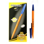 Ручка шариковая  Corvina-51 синяя жёлтый корпус