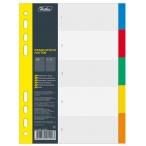 Разделитель А5 Хатбер Цветовой набор 5л./5цв., пластик