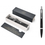 Ручка шариковая Parker Urban Muted Black CT черный мат. лак. корпус, хром. детали, синяя, М