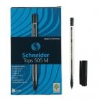 Ручка шариковая Schneider Tops 505 M черная, прозрачный корпус, 0,5мм.