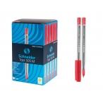 Ручка шариковая Schneider Tops 505 M красная, прозрачный корпус, 0,5мм.