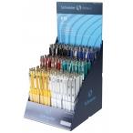 Ручка шариковая Schneider K15 автоматическая, синяя, корпус ассорти, 0,5мм.