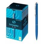 Ручка шариковая Schneider K15 автоматическая, синяя, корпус синий, 0,5мм.