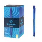 Ручка шариковая Schneider Fave синяя, корпус синий, пластик, металл, 0,5мм.