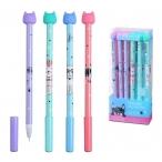 Ручка гелевая Mazari Miao синяя, со стираемыми чернилами, 0,5мм., пластик. корп., смен. стерж.