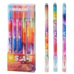 Ручка гелевая Mazari Spase синяя, со стираемыми чернилами, 0,5мм., пластик. корп., смен. стерж.