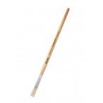Кисть Mazari щетина №8 художественная, плоская, обойма обжимная, ручка деревянная