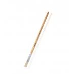 Кисть Mazari щетина №12 художественная, плоская, обойма обжимная, ручка деревянная