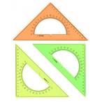 Треугольник Стамм Neon Cristal с транспортиром, 16х45гр.