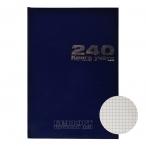 Книга учета А4 240л. Альт б/в. синий клетка