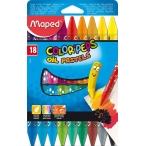Мелки масляные 18цв. Maped Color Peps в картонном футляре