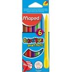 Мелки пластиковые 06цв. Maped Color Peps в картонном футляре