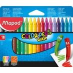 Мелки восковые 18цв. Maped Color Peps Wax в бумажном чехле, эргономичная треугольная форма
