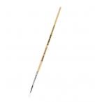 Кисть Mazari белка №3 художественная, круглая, обойма обжимная, ручка деревянная