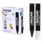 Маркер Mazari Centro черный, перманентный, пулевидный пиш.узел 2 мм.