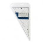 Треугольник Bruno Visconti Graphix 30 градусов, шкала по двум катетам, акрил., прозрачный