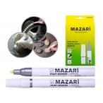 Маркер-краска Mazari Effecto серебрянный,  пулевидный пиш. узел 2мм.