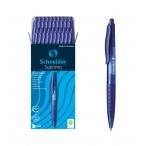 Ручка шариковая Schneider Suprimo автоматическая, синий корпус, чернила синие