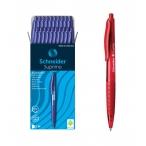 Ручка шариковая Schneider Suprimo автоматическая, красный корпус, чернила красные