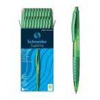 Ручка шариковая Schneider Suprimo автоматическая, зеленый корпус, чернила зеленые
