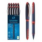 Ручка-роллер Schneider One Business красная, прорезин. поверхность, 0,6мм.
