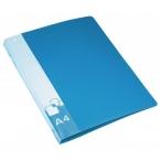 Папка-скоросшиватель А4 Бюрократ синяя, 0,7мм., пластик, пруж .скоросш. , внут. и торц. карман