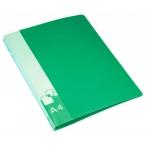 Папка-скоросшиватель А4 Бюрократ зеленая, 0,7мм., пластик, пруж .скоросш. , внут. и торц. карман