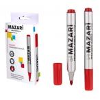 Маркер Mazari Action красный, перманентный, пулевидный пиш.узел 2 мм