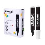 Маркер Mazari Faro черный, перманентный, пулевидный пиш.узел 2 мм