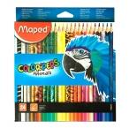 Карандаши 24 цв. Maped Color Peps декорированный корпус, в картонной коробке