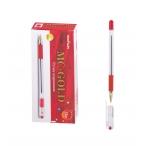Ручка шариковая MC Gold красная, грип, 0,5мм.