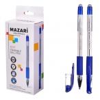 Ручка шариковая Mazari Edit синяя, со стираем. чернилами, 0,7мм., пулев.пиш.узел, с резин. грипом