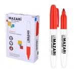 Маркер Mazari Harmony красный, перманентный, остроконечный, пиш.узел 2мм.