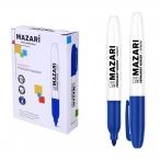 Маркер Mazari Harmony синий, перманентный, остроконечный, пиш.узел 2мм.