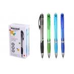Ручка шариковая Mazari Kaster синяя, автомат, со стираем. чернилами, 0,8мм.