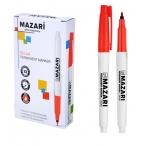 Маркер Mazari Belar красный, перманентный, остроконечный пиш.узел 1 мм.