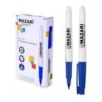 Маркер Mazari Belar синий, перманентный, остроконечный пиш.узел 1 мм.