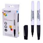 Маркер Mazari Belar черный, перманентный, остроконечный пиш.узел 1 мм.