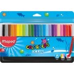 Фломастеры 24цв Maped Color Peps Ocean заблокир. пиш.узел, супер смыв., пакет