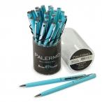 Ручка шариковая Bruno Visconti Palermo синяя, 0.7мм., автомат., бирюзовый мет. корпус