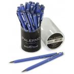 Ручка шариковая Bruno Visconti Palermo синяя, 0.7мм., автомат., фиолетовый мет. корпус