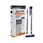Ручка шариковая LeonBergo синяя, 0,7мм., прозр.корпус