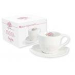 Чашка с блюдцем Розовый сад  0,25л., фарфор