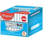 Мел белый Maped White peps 100шт., круглый, без грязи