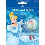 Фломастеры 12цв ХАТБЕР BK Принцессы(Disney) карт.уп., европодвес