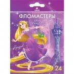 Фломастеры 24цв ХАТБЕР BK Принцессы(Disney) карт.уп., европодвес