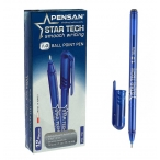Ручка шариковая Pensan Star Tech синяя, 1мм.