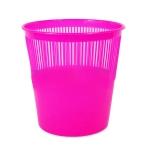 Корзина д/бумаг Tukzar  9л., розовая, флюорисц., пластик