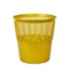 Корзина д/бумаг Tukzar  9л., золотая, пластик