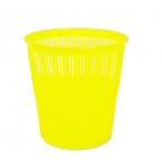 Корзина д/бумаг Tukzar  9л., желтая, флюорисц., пластик